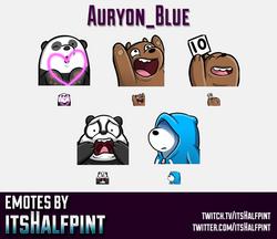 Auryon_Blue | Twitch Emotes | Cute Emotes | Custom Twitch Emotes | Emote Commissions | itsHalfpint |