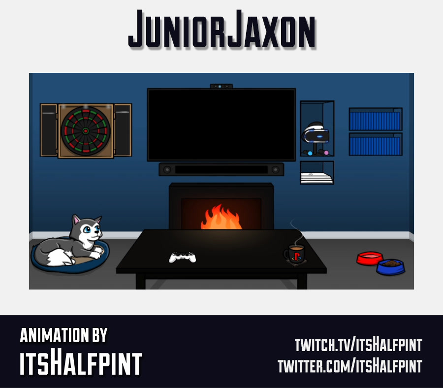 JuniorJaxon- Animation scene Twitch Background Overlay Character Cute