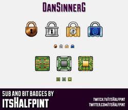 DanSinnerG sub badges twitch emotes padlock