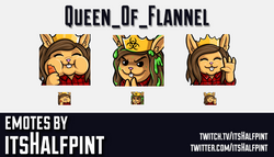Queen_of_Flannel | Bunny | | Twitch Emotes | Cute | Custom | Commissions | itsHalfpint