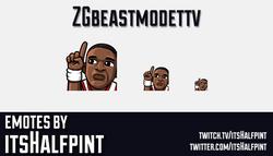 ZGbeastmodettv  | Twitch Emotes | Cute Emotes | Custom Twitch Emotes | Emote Commissions | itsHalfpi