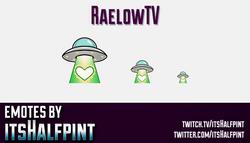 RaelowTV  | Twitch Emotes | Cute Emotes | Custom Twitch Emotes | Emote Commissions | itsHalfpint | M