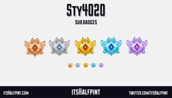 Sty4020- sub badges twitch emotes rocket league grand champ