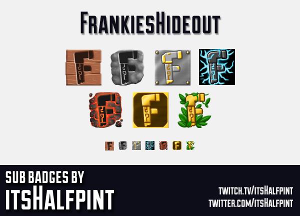 FrankiesHideout | Twitch Sub Badges | Bi