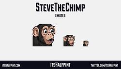 SteveTheChimp - twitch emotes funny pogchamp chimp monkey emotes pog