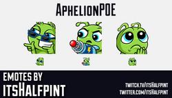 AphelionPOE | Twitch Emotes | Cute Emotes | Custom Twitch Emotes | Emote Commissions | itsHalfpint |