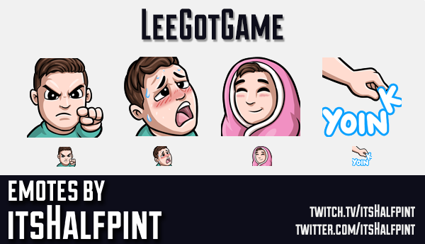 LeeGotGame  | Twitch Emotes | Cute | Custom | Commissions | itsHalfpint