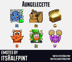 Aungelecette | Twitch Emotes | Cute | Custom | Commissions | itsHalfpint