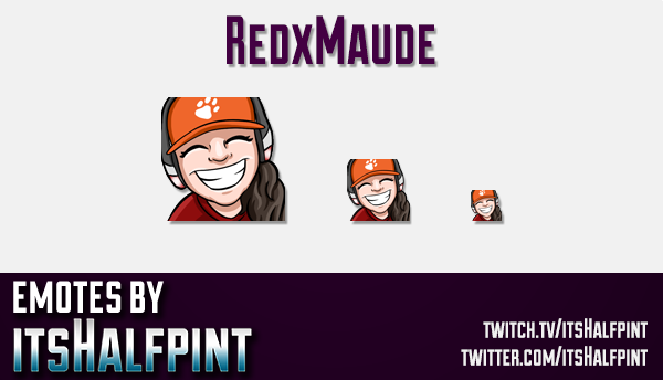 RedxMaude | Twitch Emotes | Cute Emotes | Custom Twitch Emotes | Emote Commissions | itsHalfpint | M