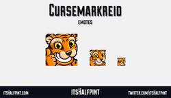 CurseMarkReid Tiger | itsHalfpint emote artist| Twitch Emotes | Cute | Custom | Commissions