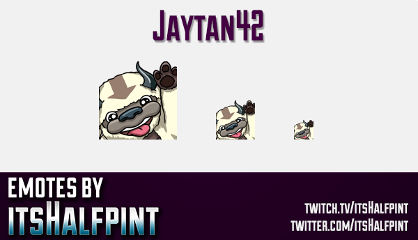 jaytan42 | Twitch Emotes | Cute Emotes | Custom Twitch Emotes | Emote Commissions | itsHalfpint | Mi