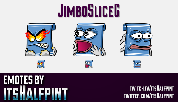 JimboSliceG | Twitch Emotes | Cute Emotes | Custom Twitch Emotes | Emote Commissions | itsHalfpint |