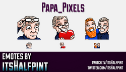 Papa_Pixels  | Twitch Emotes | Cute Emotes | Custom Twitch Emotes | Emote Commissions | itsHalfpint