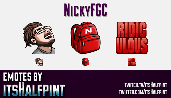 NickyFGC  | Twitch Emotes | Cute Emotes | Custom Twitch Emotes | Emote Commissions | itsHalfpint | M