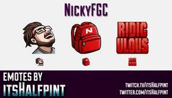NickyFGC  | Twitch Emotes | Cute Emotes | Custom Twitch Emotes | Emote Commissions | itsHalfpint | M