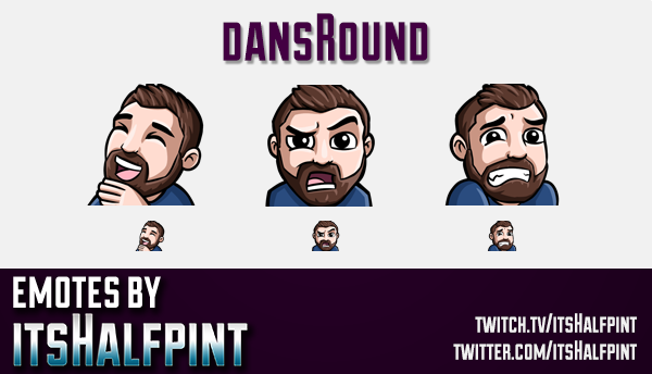 dansRound  | Twitch Emotes | Cute Emotes | Custom Twitch Emotes | Emote Commissions | itsHalfpint |
