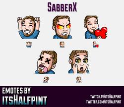 SabberX  | Twitch Emotes | Cute Emotes | Custom Twitch Emotes | Emote Commissions | itsHalfpint | Mi