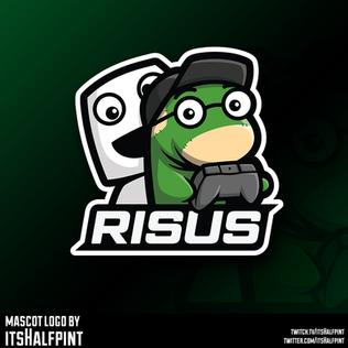 Risus Esports mascot logo Illustration   Avatar   Logo Design   Emotes   itsHalfpint