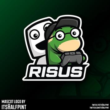 Risus Esports mascot logo Illustration | Avatar | Logo Design | Emotes | itsHalfpint