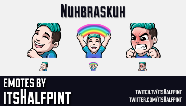Nuhbraskuh | Twitch Emotes | Cute | Custom | Commissions | itsHalfpint