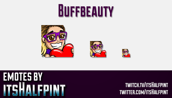 Buffbeauty  | Twitch Emotes | Cute Emotes | Custom Twitch Emotes | Emote Commissions | itsHalfpint |