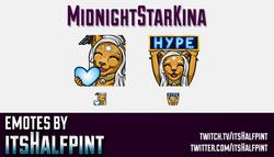 MidnightStarKina | Twitch Emotes | Cute Emotes | Custom Twitch Emotes | Emote Commissions | itsHalfp