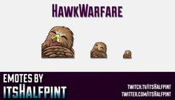 HawkWarfare | Twitch Emotes | Cute Emotes | Custom Twitch Emotes | Emote Commissions | itsHalfpint |