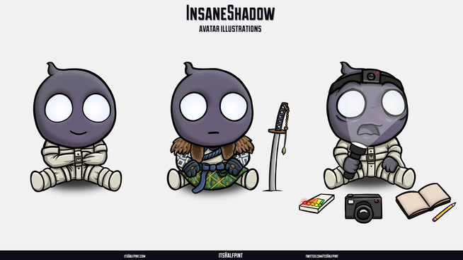 InsaneShadow- Ghost of Tsushima Phasmophobia Cute funny character illustration