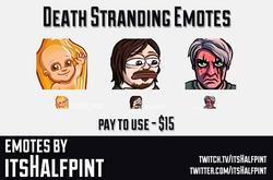 Death Stranding  | Twitch Emotes | Cute Emotes | Custom Twitch Emotes | Emote Commissions | itsHalfp