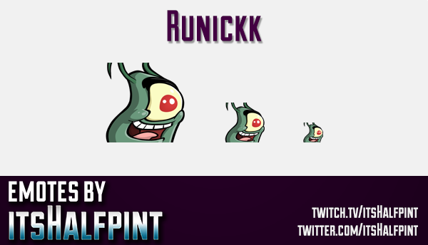 Runickk  | Twitch Emotes | Cute Emotes | Custom Twitch Emotes | Emote Commissions | itsHalfpint | Mi