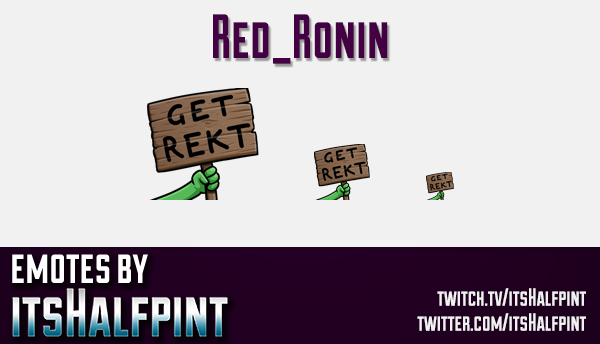 Red_Ronin  | Twitch Emotes | Cute Emotes | Custom Twitch Emotes | Emote Commissions | itsHalfpint |
