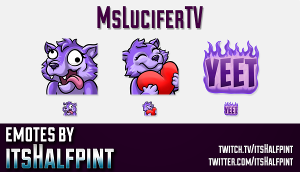 MsLuciferTV  | Twitch Emotes | Cute Emotes | Custom Twitch Emotes | Emote Commissions | itsHalfpint