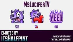 MsLuciferTV  | Twitch Emotes | Cute Emotes | Custom Twitch Emotes | Emote Commissions | itsHalfpint