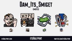 Dam_Its_Smiget Dead By Daylight Trapper DBD cats | itsHalfpint emote artist| Twitch Emotes | Cute |