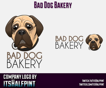 BadDogBakery mascot logo Illustration | Avatar | Logo Design | Emotes | itsHalfpint