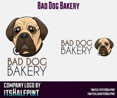 BadDogBakery mascot logo Illustration   Avatar   Logo Design   Emotes   itsHalfpint
