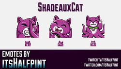 ShadeauxCat | Twitch Emotes | Cute Emotes | Custom Twitch Emotes | Emote Commissions | itsHalfpint |