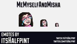 MeMyselfAndMisha-EmoteCard