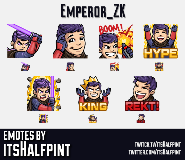 Emperor_ZK  | Twitch Emotes | Cute | Custom | Commissions | itsHalfpint
