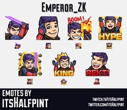 Emperor_ZK  | Twitch Emotes | Cute | Custom | Commissions | itsHalfpint