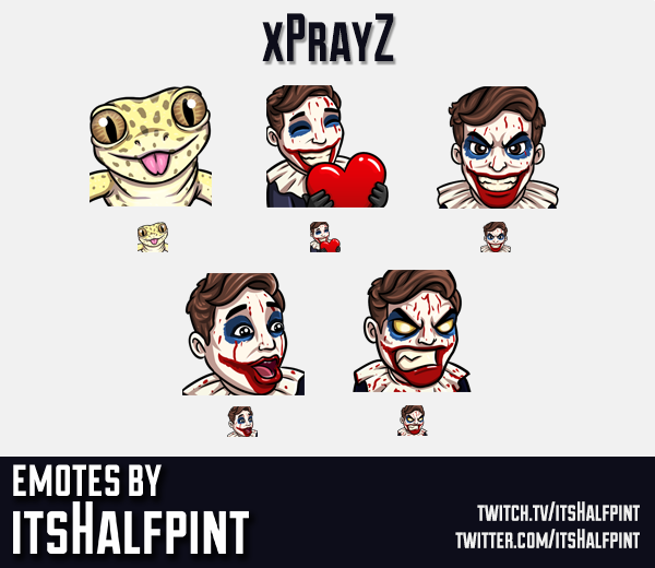 xPrayZ | Twitch Emotes | Cute | Custom | Commissions | itsHalfpint