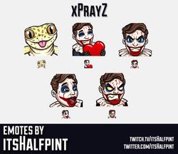 xPrayZ | Twitch Emotes | Cute | Custom | Commissions | itsHalfpint