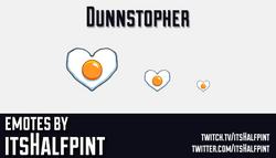 Dunnstopher  | Twitch Emotes | Cute Emotes | Custom Twitch Emotes | Emote Commissions | itsHalfpint