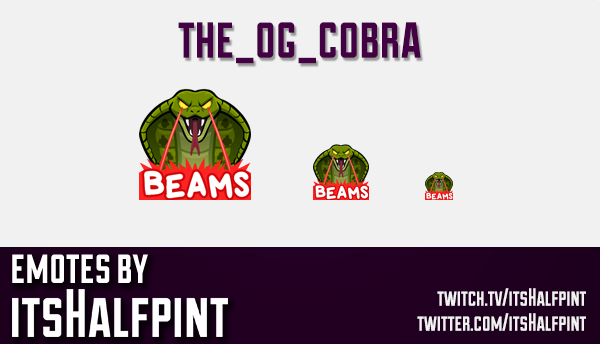 the_og_cobra  | Twitch Emotes | Cute Emotes | Custom Twitch Emotes | Emote Commissions | itsHalfpint