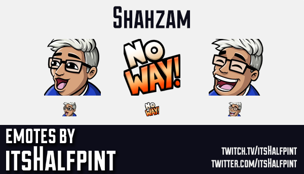 Shahzam  | Twitch Emotes | Cute Emotes | Custom Twitch Emotes | Emote Commissions | itsHalfpint | Mi
