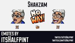 Shahzam  | Twitch Emotes | Cute Emotes | Custom Twitch Emotes | Emote Commissions | itsHalfpint | Mi