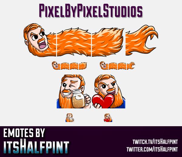PixelByPixel | Twitch Emotes | Cute Emotes | Custom Twitch Emotes | Emote Commissions | itsHalfpint