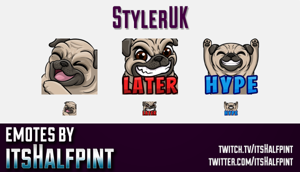 StylerUK  | Twitch Emotes | Cute Emotes | Custom Twitch Emotes | Emote Commissions | itsHalfpint | M