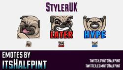 StylerUK  | Twitch Emotes | Cute Emotes | Custom Twitch Emotes | Emote Commissions | itsHalfpint | M