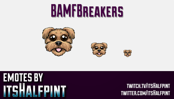 BAMFBreakers  | Twitch Emotes | Cute Emotes | Custom Twitch Emotes | Emote Commissions | itsHalfpint